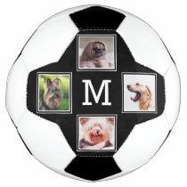 YOUR 4 INSTAGRAM PHOTOS & MONOGRAM soccer ball