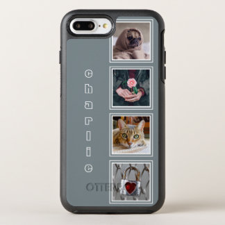 YOUR 4 INSTAGRAM PHOTOS & NAME color OtterBox Symmetry iPhone 7 Plus Case