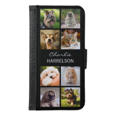YOUR 8 INSTAGRAM PHOTOS custom phone wallets at Zazzle