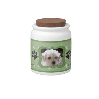 Your A Star Dog Treat Jar - Customize Photo Candy Dish