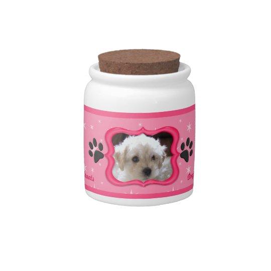 Your A Star Dog Treat Jar - Customize Photo Candy Dish