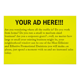 Your ad here poster