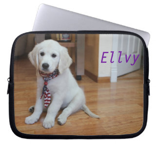 Your adorable pet on a laptop sleeve