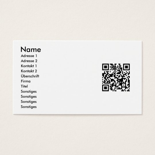 Your aileron code on visiting cards