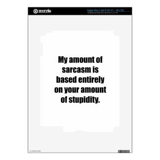 Your Amount Of Stupidity iPad 3 Decals