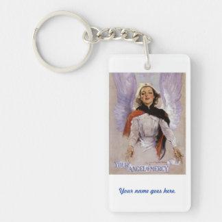 Your Angel of Mercy nursing keychain. Single-Sided Rectangular Acrylic Keychain