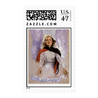 Your Angel of Mercy nursing postage stamp.