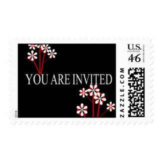 Your Are Invited Flowers - Customized Stamp