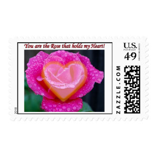 Your are the rose that holds my heart-card postage