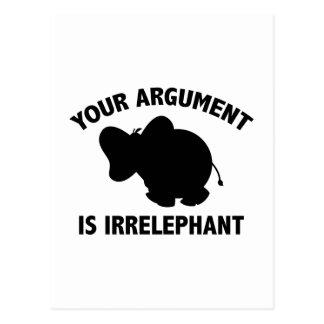 Your Argument Is Irrelephant Postcard