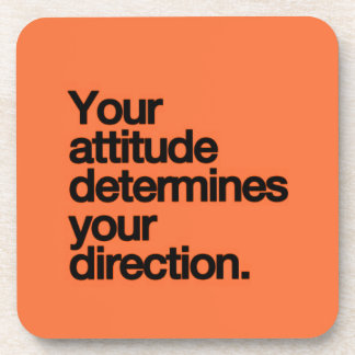YOUR ATTITUDE DETERMINES YOUR DIRECTION MOTIVATION COASTERS