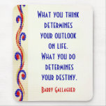 Your Attitude Motivational Quotes Mousepad