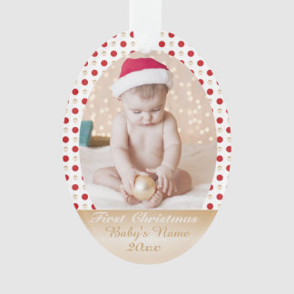 Your Baby's First Christmas- custom photo memorie Ornament