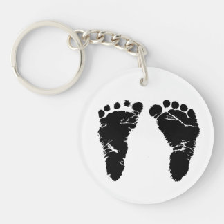 *Your baby's footprint here - Keychain