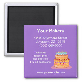 Your Bakery Business Card Magnet