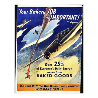Your Bakery Job Is Important, Baked Goods Flyer