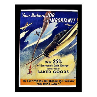 Your Bakery Job Is Important, Baked Goods Post Cards