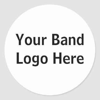 Your Band Logo Here Classic Round Sticker