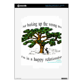 your barking up the wrong tree decal for iPad 3