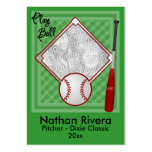 Your Baseball Trading Card Large Business Cards (Pack Of 100)