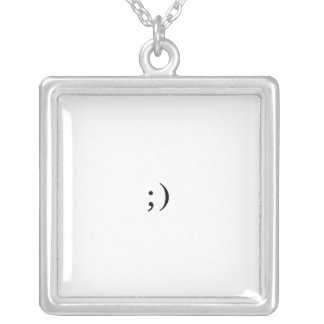 Your Basic Wink Silver Plated Necklace