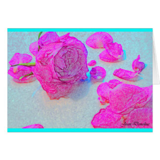 YOUR BEAUTIFUL FRAGRANT ROSE PETAL NOTE CARD SET