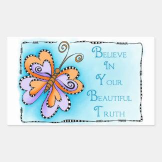 Your Beautiful Truth Rectangular Sticker