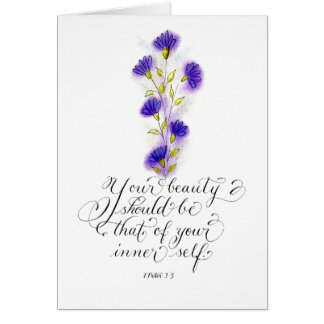 Your Beauty Inspirational Bible Verse Card