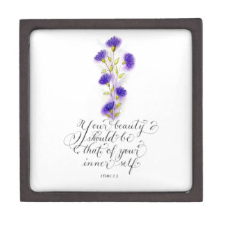 Your Beauty inspirational typography bible verse Jewelry Box