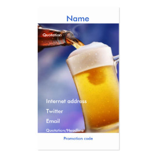 Your beer promotional card
