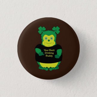 Your best drinking buddy Irish funny cartoon pin