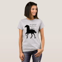 Your Best Friend Inspirational Horse Quote Art T-Shirt