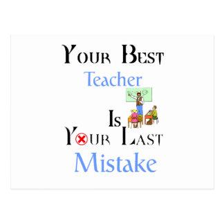 Your Best Teacher is Your Last Mistake Postcard