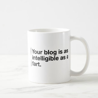 Your blog is as intelligible as... coffee mug