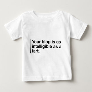 Your blog is as intelligible as... tee shirt