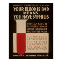 Your Blood Is Bad Means You Have Syphilis Vintage