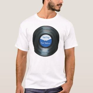 Your Blue Record Label Shirt at Zazzle