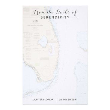 Professional Business Your Boat Name From the Decks of Florida Nautical Stationery