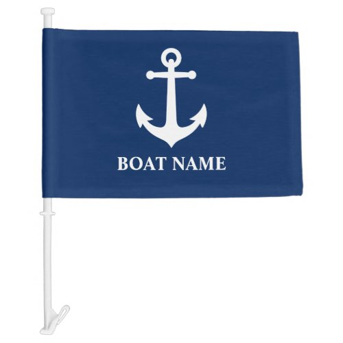 Your Boat Name  Vintage Nautical Anchor Boat or Car Flag