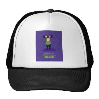 Your body is a reflection of your lifestyle trucker hat