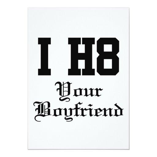 "your boyfriend 5"" x 7"" invitation card"