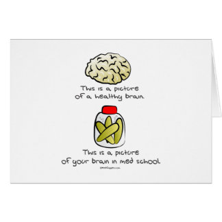 Your brain in Med School Card