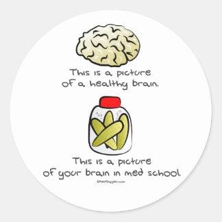 Your brain in Med School Classic Round Sticker