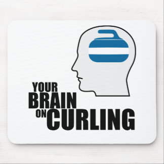 Your brain on curling mouse pad