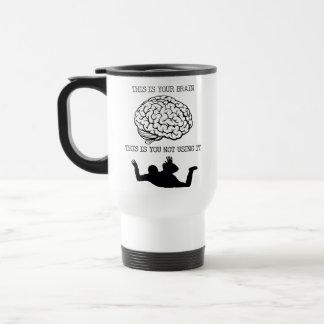 Your Brain On Skydiving Funny Travel Mug