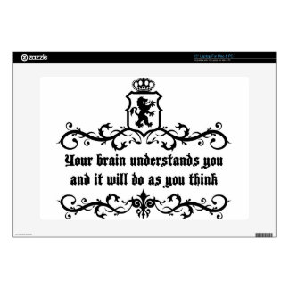 Your Brain Understands You Medieval quote Skins For Laptops