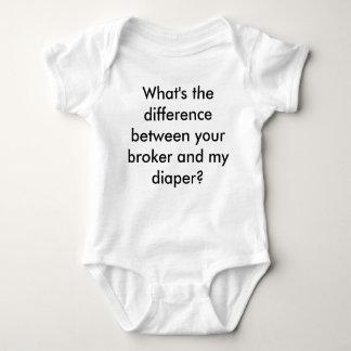 Your Broker vs. My Diaper Baby Bodysuit