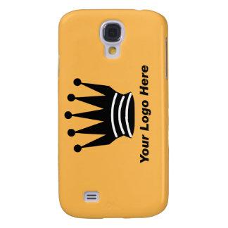Your business brand logo custom orange i samsung galaxy s4 case