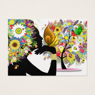 Your Business Card - Floral Butterfly Profile
