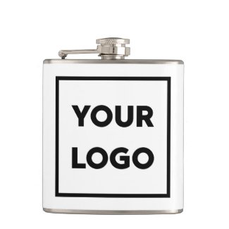 Your Business Company Logo Promotional Flask